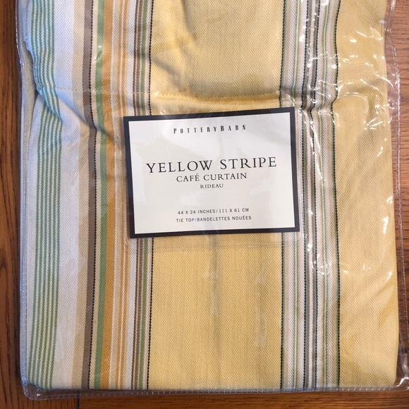 Pottery Barn Other - Pottery barn Yellow Stripe Cafe Curtains
